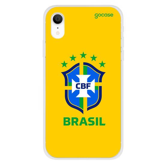 Capinha para celular Seleção Brasileira - Escudo Amarelo