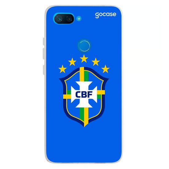 Capinha para celular Seleção Brasileira - Escudo Azul