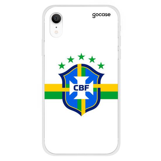 Capinha para celular Seleção Brasileira - Escudo Branco
