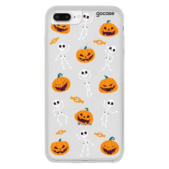 Capinha para celular Esqueletos e Abóboras