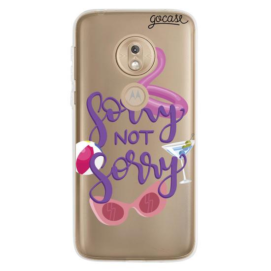 Capinha para celular Sorry Not Sorry