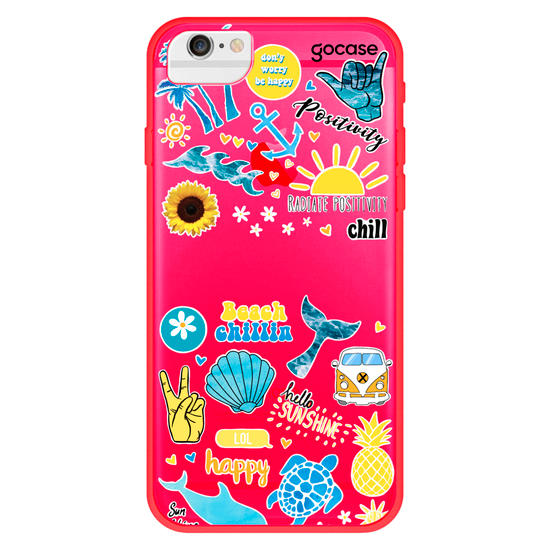 Capinha para celular Summer Patches Manuscrita - Summer Collection