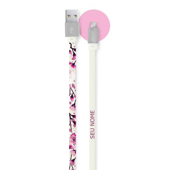 Cabo Android Micro USB Personalizado Gocase - Flor de Cerejeira