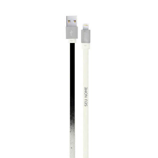Cabo Personalizado iPhone Gocase Lightning (Certificado Apple) - Gradiente Preto