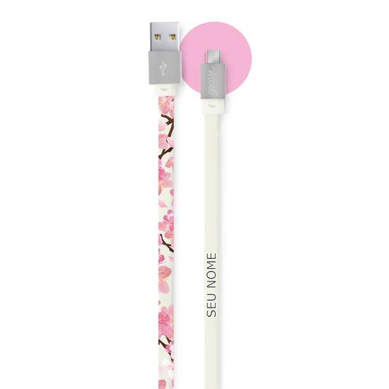 Cabo Android Micro USB Personalizado Gocase - Cherry Garden