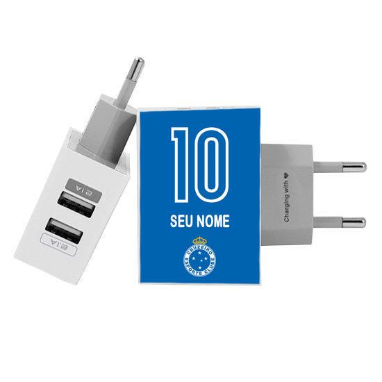 Carregador Personalizado iPhone/Android Duplo USB de Parede Gocase - Cruzeiro - Uniforme 1 2020