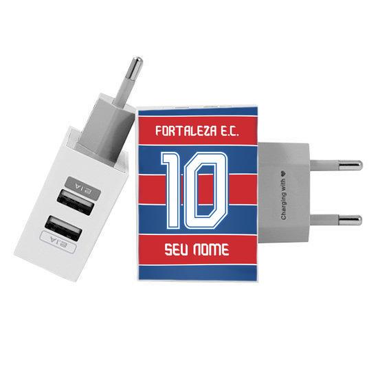 Carregador Personalizado iPhone/Android Duplo USB de Parede Gocase - Fortaleza - Tradição 2019 - Personaliza