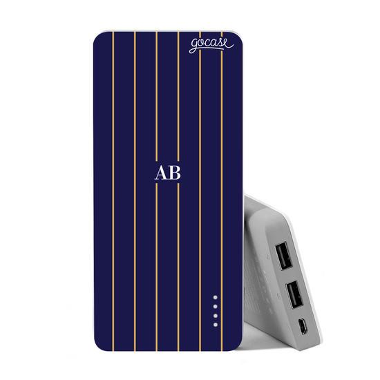 Carregador Portátil Power Bank (10000mAh) - Elegance Stripes