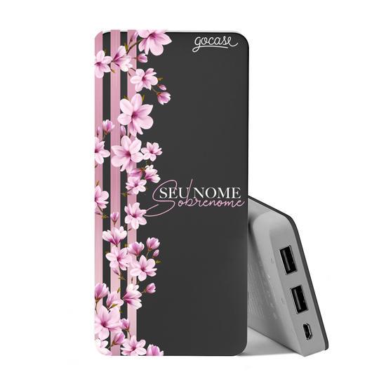 Carregador Portátil Power Bank (10000mAh) - Floral Lines