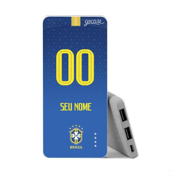 Carregador Portátil Power Bank Slim (5000mAh) - Seleção Brasileira - Uniforme Azul
