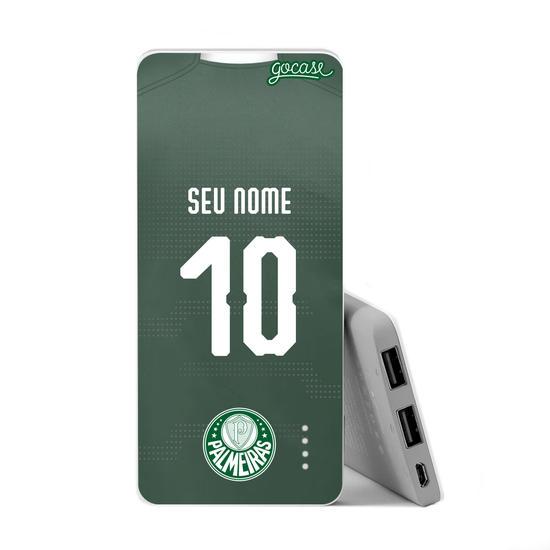 Carregador Portátil Power Bank Slim (5000mAh) - Palmeiras - Unifome I - 2019 - Personalizado