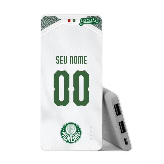 Carregador Portátil Power Bank Slim (5000mAh) - Palmeiras - Uniforme II - 2019 - Personalizado