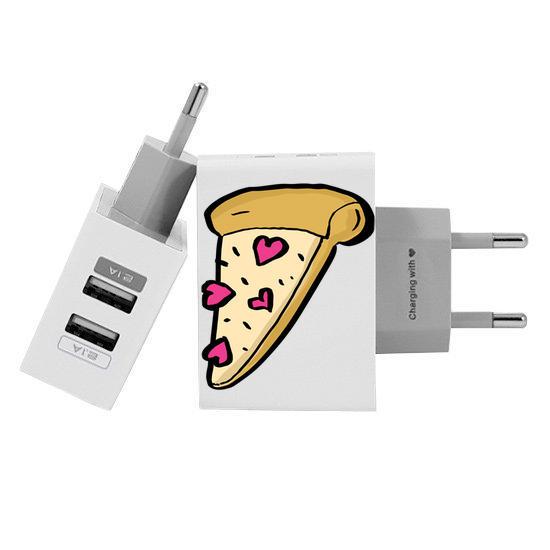 Carregador Personalizado iPhone/Android Duplo USB de Parede Gocase - Pizza