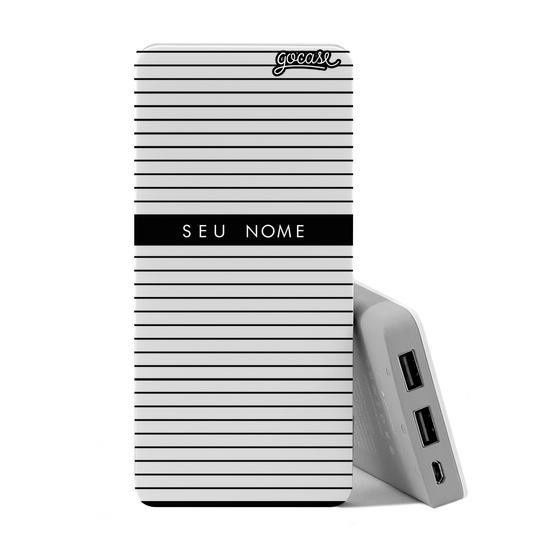 Carregador Portátil Power Bank (10000mAh) - Classic Stripes