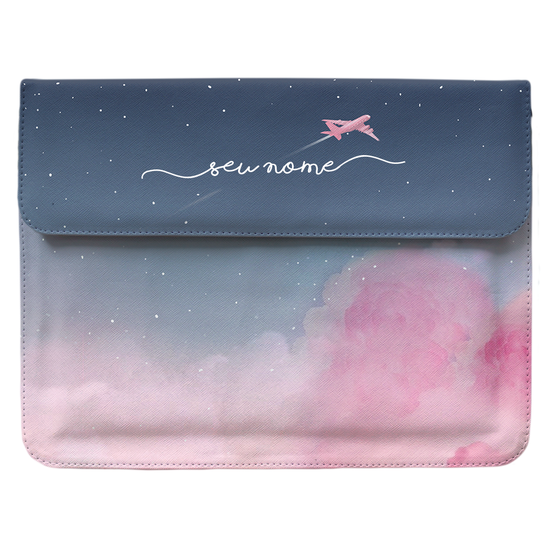 Capa para Notebook Personalizada - Sweet Travel Manuscrita