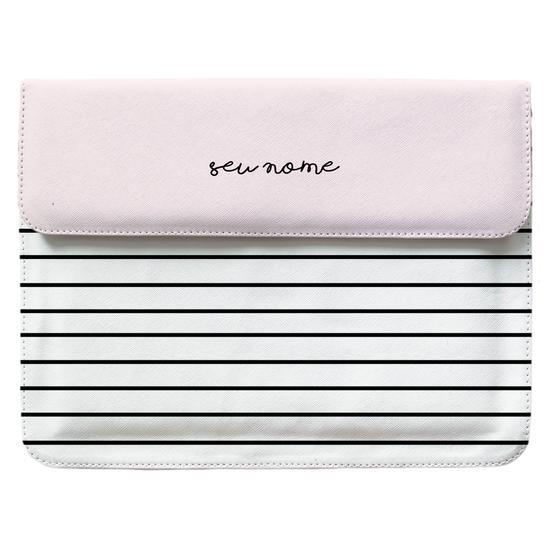 Capa para Notebook - Linhas Tricolor Manuscrita
