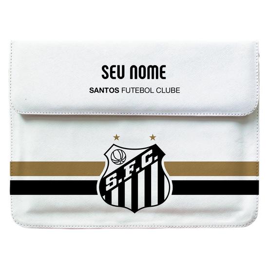 Case Clutch Notebook - Santos - Escudo - Customizável
