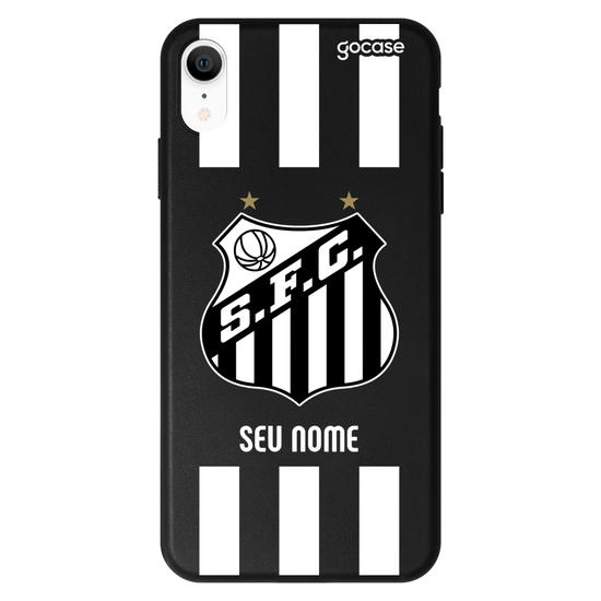 Capinha para celular Black Case - Santos - Escudo - Customizável
