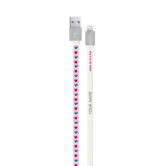 Customized Lightning Cable to USB for iPhone Lightning (Apple Certified) - Red Lips
