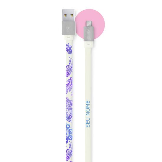 Cabo Personalizado Micro USB para Android Gocase - Purple