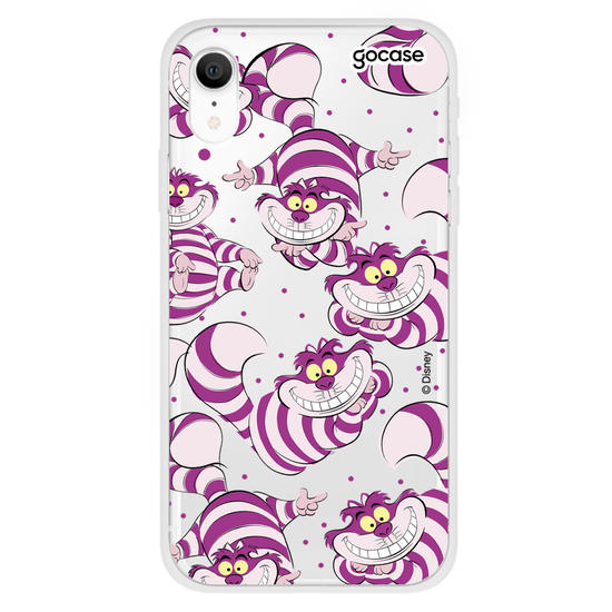 Capinha para celular Disney - Alice - Gato de Cheshire Patches