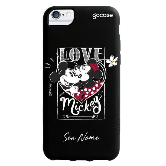 Capinha para celular Color Black - Disney - Mickey e Minnie - Love Black