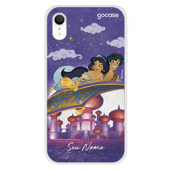 Capinha para celular Disney - Jasmine e Aladdin - Num Tapete a Voar