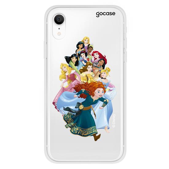 Capinha para celular Color Black - Disney - Princesas Aventureiras Personalizada