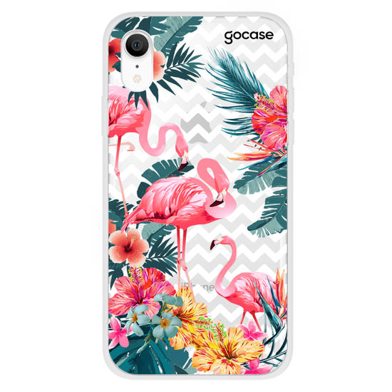 Capinha para celular Flamingos Decor