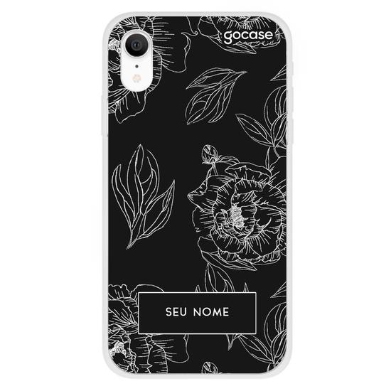 Capinha para celular Floral Black
