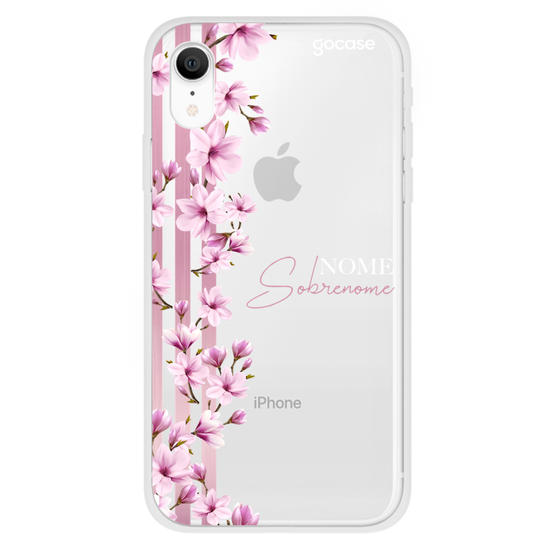 Capinha para celular Floral Lines Personalizada Clean