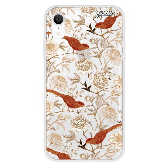 Capinha para celular Flores e Pássaros