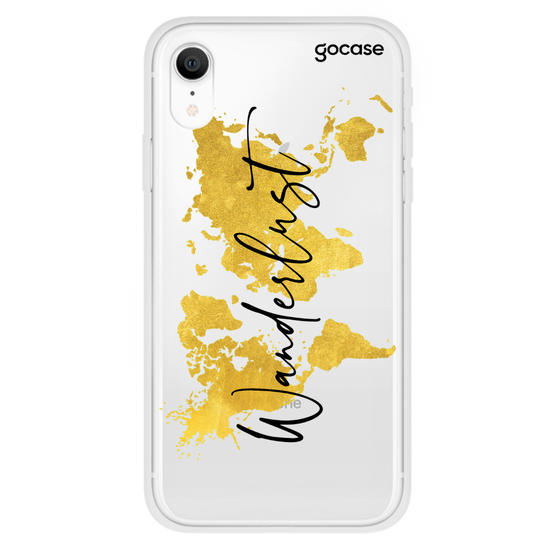 Gold Clean Wanderlust Mundi Map Phone Case