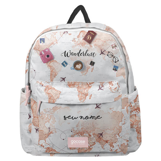 Mochila Fun - World Trip Manuscrita