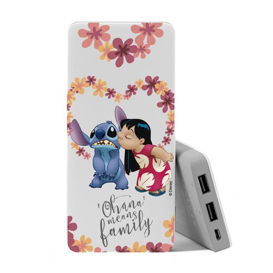 Carregador Portátil Power Bank (10000mAh) - Lilo e Stitch - Ohana é amor