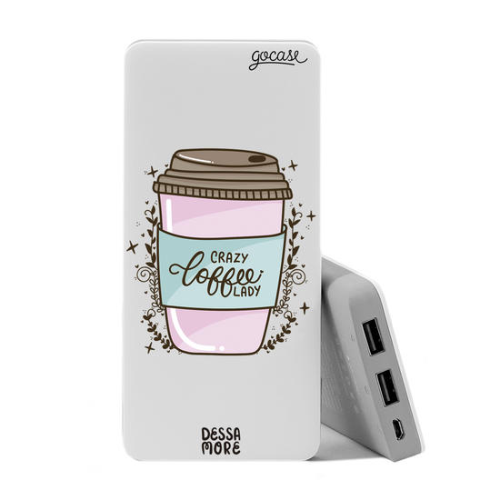Carregador Portátil Power Bank (10000mAh) - Crazy Coffee