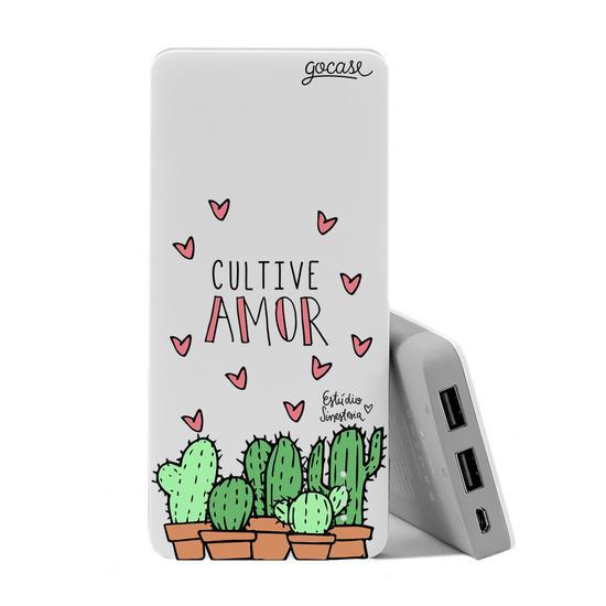 Carregador Portátil Power Bank (10000mAh) - Cultive o Amor