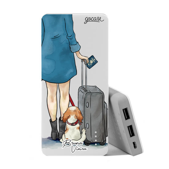 Carregador Portátil Power Bank (10000mAh) - My Travel Dog by Bruna Vieira