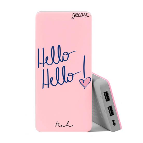 Carregador Portátil Power Bank Slim (10000mAh) Rosa - Hello Hello by Nah Cardoso