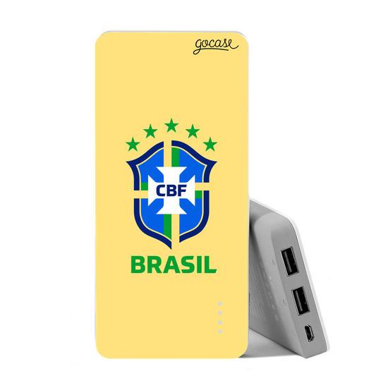 Carregador Portátil Power Bank (10000mAh) - Seleção Brasileira - Escudo Amarelo