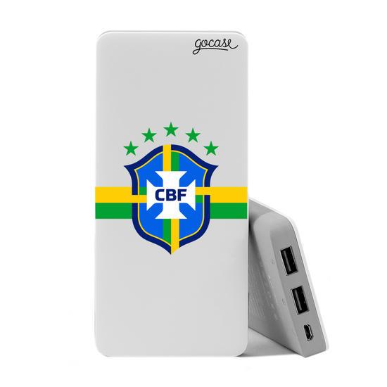 Carregador Portátil Power Bank (10000mAh) - Seleção Brasileira - Escudo Clean