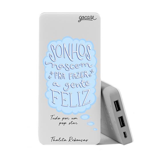 Carregador Portátil Power Bank (10000mAh) - Sonhos - Azul by Thalita Rebouças