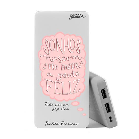 Carregador Portátil Power Bank (10000mAh) - Sonhos - Rosa by Thalita Rebouças