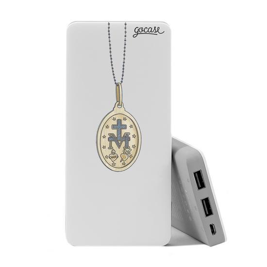 Carregador Portátil Power Bank (10000mAh)  - Medalha Nossa Senhora