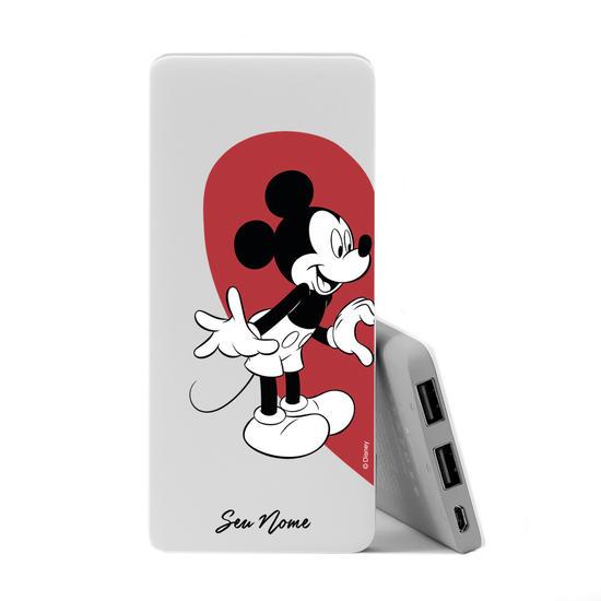 Carregador Portátil Power Bank Slim (5000mAh) - BFF Coração Mickey