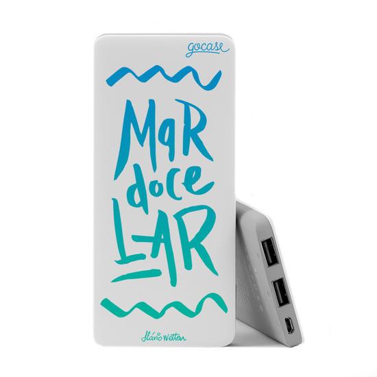 Carregador Portátil Power Bank Slim (5000mAh) - Mar Doce Lar