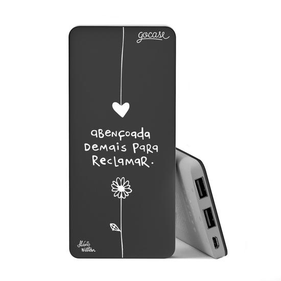 Carregador Portátil Power Bank Slim (5000mAh) Preto - Abençoa White