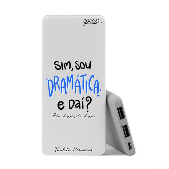 Carregador Portátil Power Bank Slim (5000mAh) - Sou Dramática by Thalita Rebouças