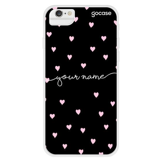 Pink Hearts Handwritten Phone Case