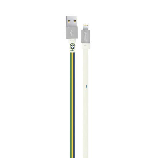 Cabo Personalizado iPhone Gocase Lightning (Certificado Apple) - Seleção Brasileira - Verde e Amarelo